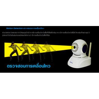 PLENTY IP Camera Wireless/Wired IP-J03-KS PLENTY IP-J03KS กล้อง IP CAMERA แบบ WIRELESS รองรับ PAN/TILT พร้อม IR