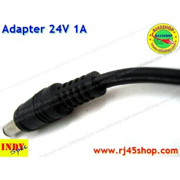 Adapter 24V1A หัวJack 5.5*X2.1-2.5mm For cctv router AcessPoint UBNT POE และอื่นๆ